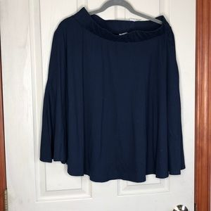 XL Navy Skirt with Pockets